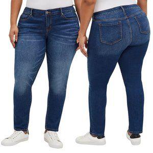 TORRID Boyfriend Straight Leg Vintage Stretch Medium Wash Jeans 18R